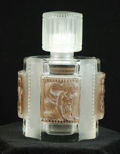 1920′s Lalique glass perfume bottle.