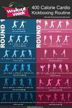 400 calorie cardio kickboxing routine