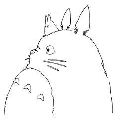 coloring totoro coloring pages dessin Studio Ghibli Tattoo, Studio Ghibli Art, Studio Ghibli Movies, Totoro Drawing, Illustrations, Illustration Art, Drawing Sketches, Art Drawings, Personajes Studio Ghibli