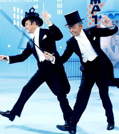 genecurrankelly: Gene Kelly & Fred Astaire dancing together for That's Entertainment, Part II (1976)