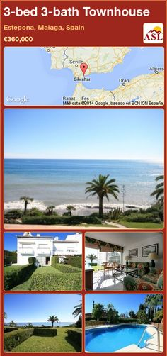 3-bed 3-bath Townhouse in Estepona, Malaga, Spain ►€360,000 #PropertyForSaleInSpain