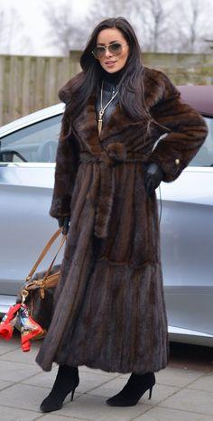 NEW SAGA MINK LONG TRENCH FUR COAT HOOD CLASS- JACKET CHINCHILLA FOX SABLE VEST   eBay