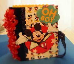 Disney Mickey Mouse Mini Scrapbook Album