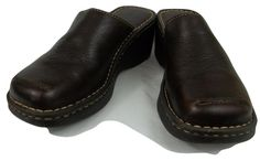Born Clog Mules Brown Leather Slide on Loafers Shoes Womens Size 7 M #Born #Mules