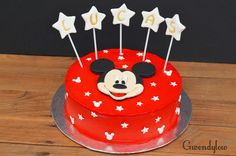 Tarta de Mickey Mouse - Nata y trufa