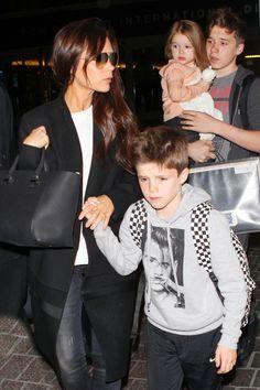 Victoria Beckham & Kids: Leaving LAX