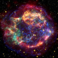"NASA's Chandra X-ray Observatory image of supernova  ""Cassiopeia A"""