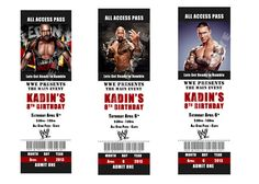printable wwe birthday party invitations photo invite wrestling, Birthday invitations