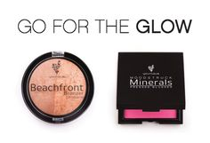 Get that glowing skin with Beachfront Bronzer and Touch Mineral Blusher.