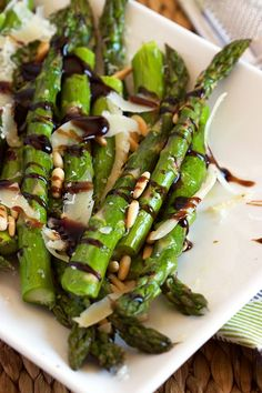 Roasted Asparagus with Pine Nuts Parmesan and Balsamic Glaze   TheSuburbanSoapbox.com