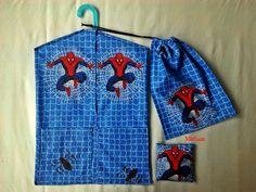Pókemberes ovis zsák szettben   Mirtusz : Oviba készülőknek - ovis szettek Reusable Tote Bags, Swimwear, Fashion, One Piece Swimsuits, Moda, La Mode, Swimsuit, Fasion, Bathing Suits