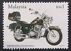 Nitro NE150 Windstar Motorcycles & Motorbike -Framed Postage Stamp Art 8272