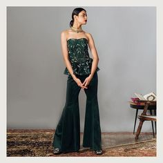 Trending Velvet Outfits For Brides Which Are Not Lehengas! Party Wear Indian Dresses, Designer Party Wear Dresses, Indian Wedding Outfits, Bridal Outfits, Indian Outfits, Indian Clothes, Lehenga Color Combinations, Velvet Outfits, Velvet Dresses