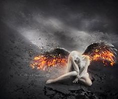 Dust to dust - Fantasy Gothic Angel, Gothic Art, Dark Fantasy Art, Dark Art, Angel Warrior, Ange Demon, Angel And Devil, Angels And Demons, Fallen Angels