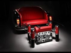 Exquisite Sofas And Coffee Tables With Car Parts | DigsDigs