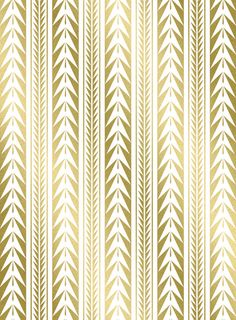 Moroccan Stripes Gold Art Print
