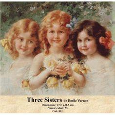 Goblen set de vanzare Three Sisters de Emile Vernon http://set-goblen.ro/portrete/3665-three-sisters-de-emile-vernon.html