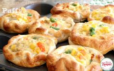 These Chicken Pot Pie Puffs are one of my top pinned easy recipes.  They are super easy to make - it's no wonder they are one of my favorite 30 minute meals!  Get the recipe at www.itisakeeper.com.