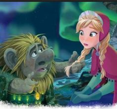 *GRAND PABBIE (The King of the Trolls) & PRINCESS ANNA ~ Frozen, 2013 .........His family is so sweet