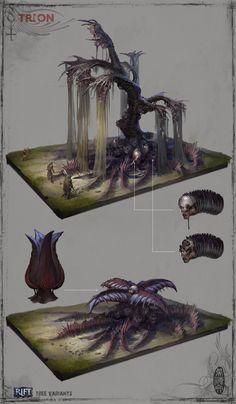Dusk Spires Tree, Herman Ng on ArtStation at https://www.artstation.com/artwork/oxAwz