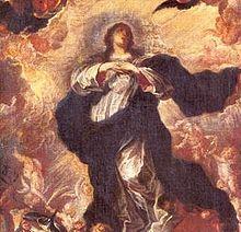 La Inmaculada Concepción, cuadro realizado aproximadamente el año 1680. Actualmente su festividad es celebrada el 8 de diciembre en Chile. Es de notar que los primeros cuadros chilenos estaban casi en su totalidad relacionados con la religión, ya que por este medio se evangelizaba con mayor facilidad a la gente analfabeta de la época.