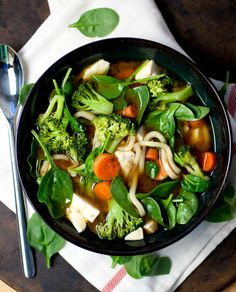 Produce On Parade - Veggie Miso Udon Soup NOTES..Reduce sodium with less soy sauce and reduce sugar...