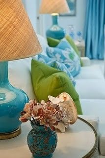 bright turquoise and lime green interior living room House Colors, Living Room Green, Living Room Images, Decor, Color, Green Rooms, Interior, Colorful Interiors, Room