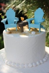 Miniature Beach Chair Cake Topper - http://www.laddiez.com/wedding-tips/miniature-beach-chair-cake-topper.html - #Beach, #Cake, #Chair, #Miniature, #Topper