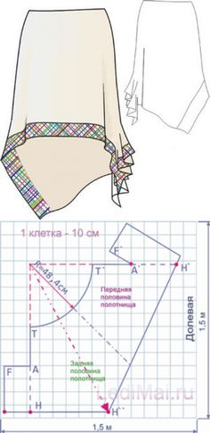 Асимметричная юбка выкройка