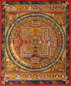 Kalachakra Mandala with deities - buddist
