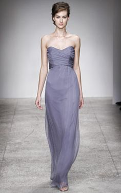 Another Chiffon Amsale, but strapless. Thinking Champagne will be the color for these dresses.
