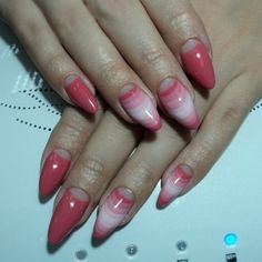 Cute pointy nails