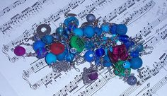 Blue Waters Charm/Junk Bracelet by ErikasChiquis on Etsy