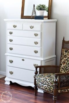 Chest Drawers Makeover Fusion Raw Silk. By Melanie Alexander of Lost