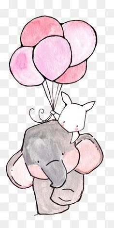 Rabbit And Flowers, Rabbit Clipart, Drawing Rabbit, Retro Rabbit PNG Transparent Clipart Image and P Nursery Drawings, Baby Animal Drawings, Cartoon Drawings, Cute Drawings, Cute Elephant Drawing, Illustration Blume, Cute Wallpapers, Cute Art, Watercolor Paintings