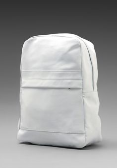 7b54b7b9d08f COMMON PROJECTS Leather Knapsack in White - Backpacks Procurement Process