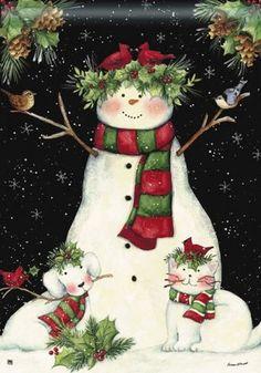 Snowman -- 'Holly Days' flag: