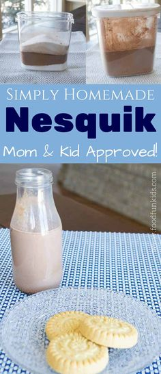 This simple, tasty homemade Nesquik recipe satisfies all your chocolate milk cravings. It is also great for hot chocolate too!   via @foodfunkids