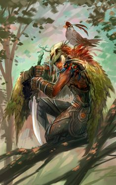 Fantasy Artwork by Jian Guo - Male human or elf; Fantasy Male, Fantasy Warrior, Fantasy World, Dark Fantasy, Woman Warrior, Character Concept, Character Art, Concept Art, Dnd Characters