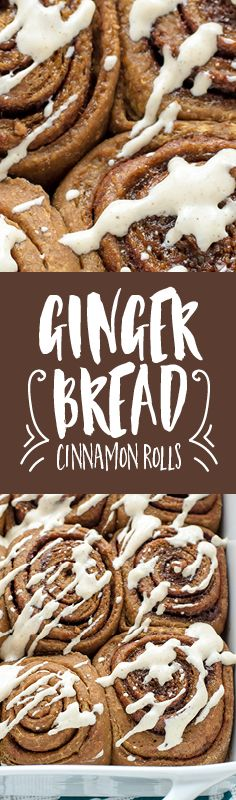 This soft and tender cinnamon rolls recipe is packed with the rich, warm flavors of your favorite gingerbread cookie.