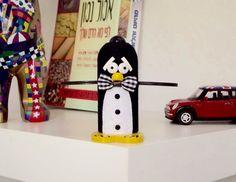 Black and White Tuxedo Decorative Penguin Groom Wedding Cake Topper/ Classic Penguin Bowtie Cake Top/ Custom Handmade Novelty Wedding Gift