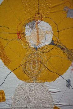 Junko Oki Textiles Artist Study for Art Fibres Textiles, Textile Fiber Art, Textile Artists, Art Du Fil, Sewing Art, Elements Of Design, Art Plastique, Embroidery Art, Embroidery Designs