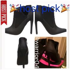 🎉HP 6/9/16🎉 Black Heeled June Ankle Boots NWT Michael Antonio Black Heeled June Ankle Boots NWT includes original box Michael Antonio Shoes Ankle Boots & Booties
