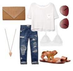 """""""Casual"""" by sydney-alexis-spradley on Polyvore featuring Abercrombie & Fitch, MANGO, Polo Ralph Lauren, Humble Chic, Pamela Love and MINKPINK"""