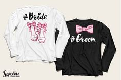 #Groom #Bride couple t-shirts design by Wedding Fashion Illustration Kit by Sopelkin on @creativemarket