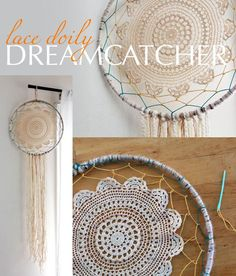 Take a modern twist to the sacred dream catcher and make one out of yarn and a lace doily. DIY instructions here: www.ehow.com/...