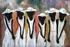 """This is a Giclee, but one of my favorite paintings. Titled """"Springtime"""", this painting depicts beauty, flowers and all the amazing colors… Black Art Painting, Black Artwork, African American Artwork, African Art, Black Art Pictures, Work Pictures, African Paintings, Black Girl Art, Afro Art"""