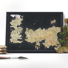 Game of Thrones Westeros Map TV Poster 24x36 - Poster Foundry ...