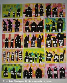 Preschool Arts And Crafts, Kindergarten Activities, Diy And Crafts, Crafts For Kids, 3rd Grade Art Lesson, Art Du Collage, Art Projects, Projects To Try, Bricolage Halloween