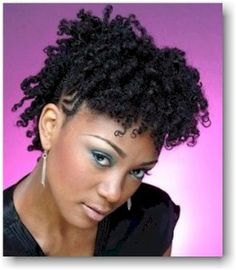 Short Curly Natural Hair Style...did this style for a wedding & LOVED it!